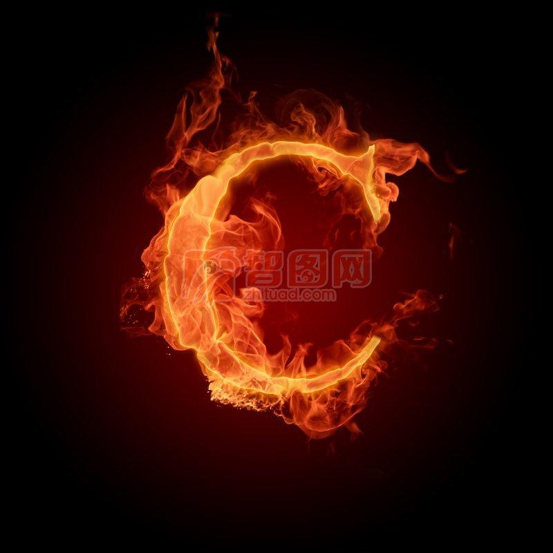 火焰字母C