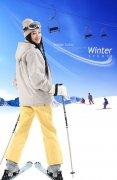 滑雪的女人