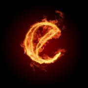 火焰字母e