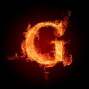 火焰字母G