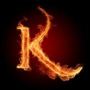 火焰字母K