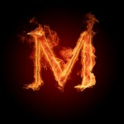 火焰字母M