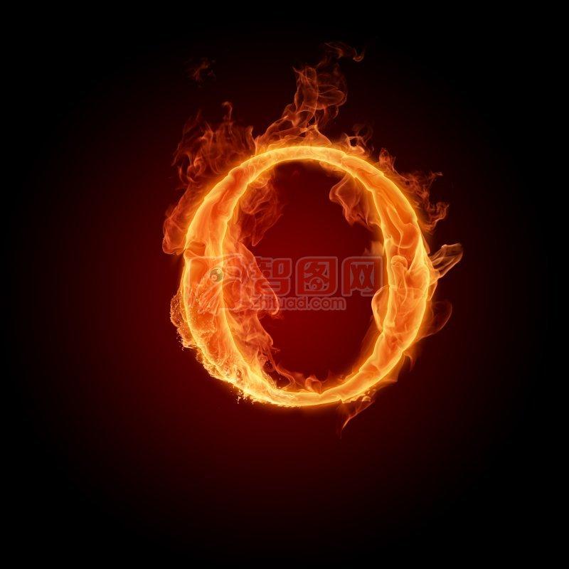 【jpg】火焰字母o