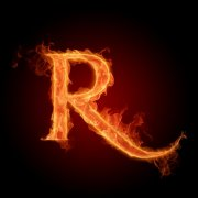 火焰字母R