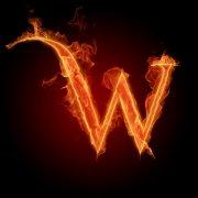 火焰字母W