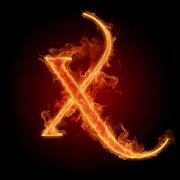 火焰字母X