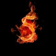 火焰数字5