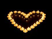 爱心蜡烛摄影
