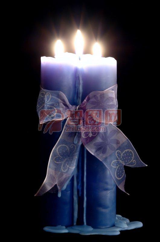 蓝色蜡烛元素