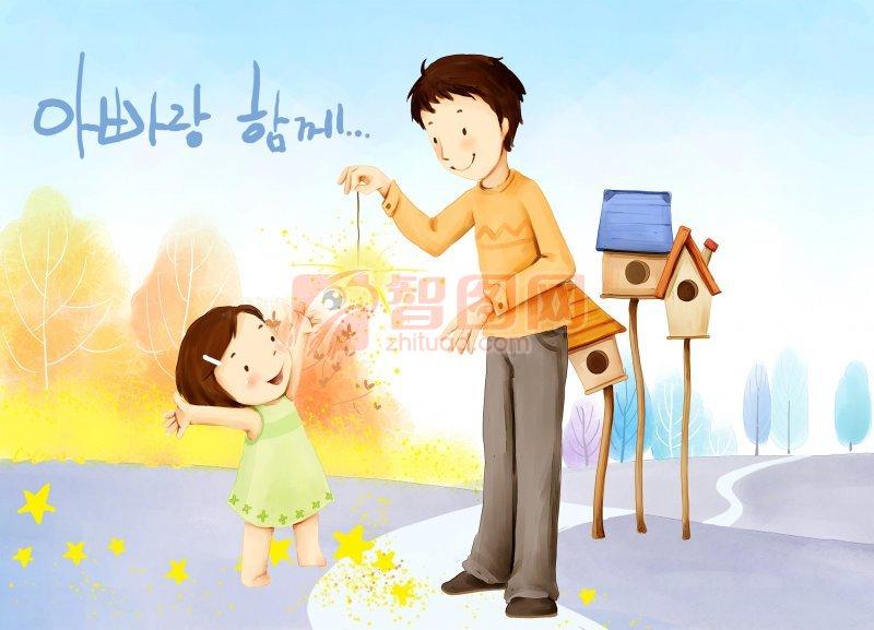 韓國可愛兒童插畫