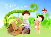韩国儿童可爱插画