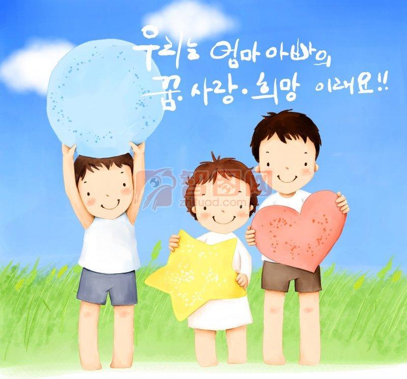 兒童 幼兒 韓國 插畫