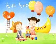 韓國兒童可愛插畫