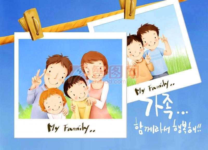 韩国家庭插画