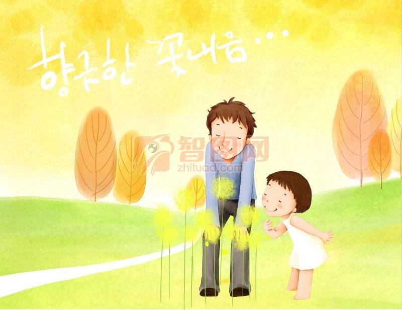 【psd】唯美韩国插画设计