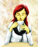 喝咖啡的女人