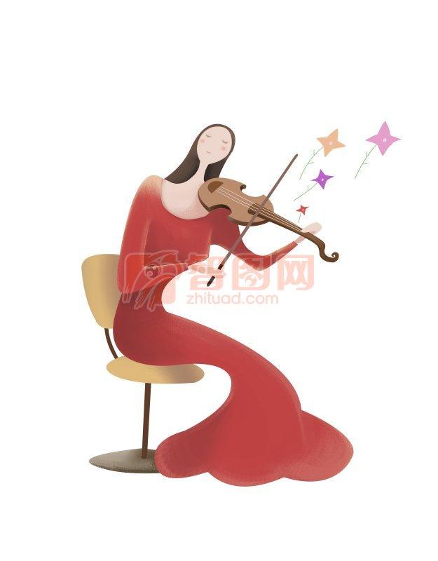 拉小提琴的女人