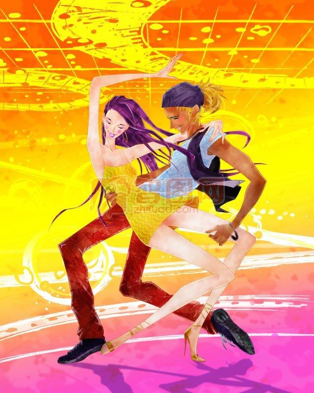 跳舞的两个人