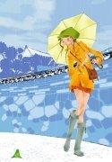 打伞的女孩