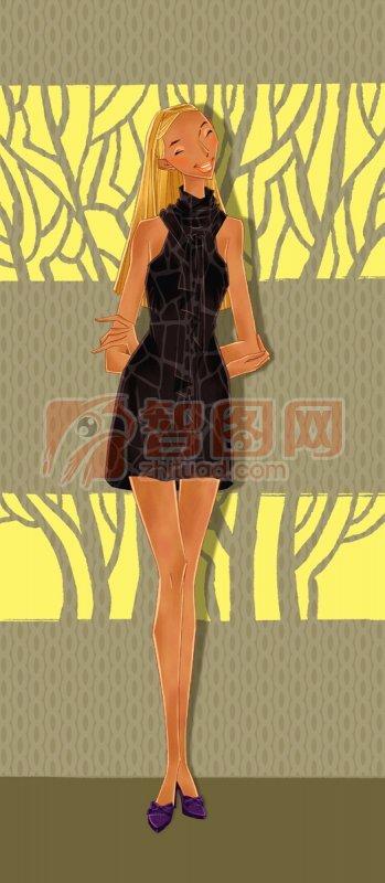 黑色旗袍女人