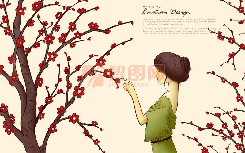 开红花的树
