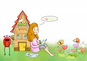 卡通房子素材