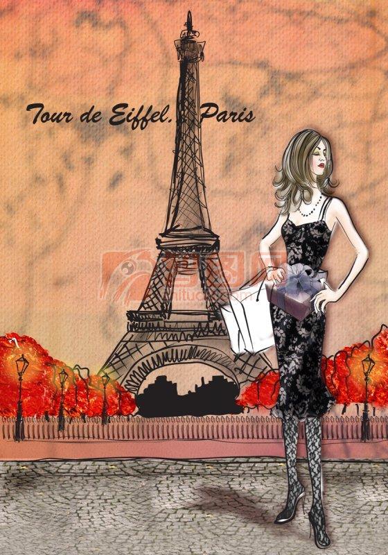 巴黎鐵塔素材