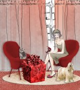 红色椅子元素