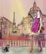 粉色豹纹衣服美女