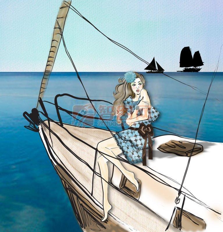 船上的女人