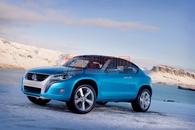 蓝色Concept概念车素材