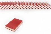 红色笔记本摄影
