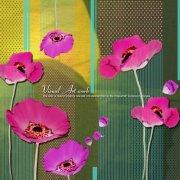 粉红色花朵美术设计