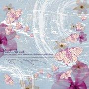 美术蝴蝶元素