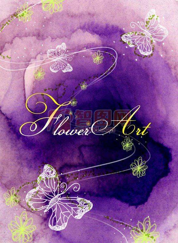 紫色背景美術設計
