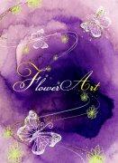 紫色背景美术设计