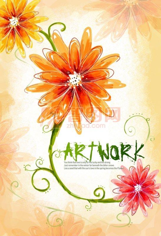 美术鲜花元素