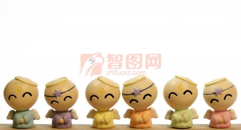 七彩天使玩偶素材