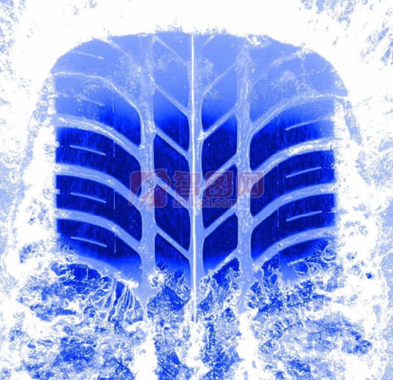摄影专区 现代科技 交通工具  关键词: 高清轮胎 冰块元素 蓝色素材