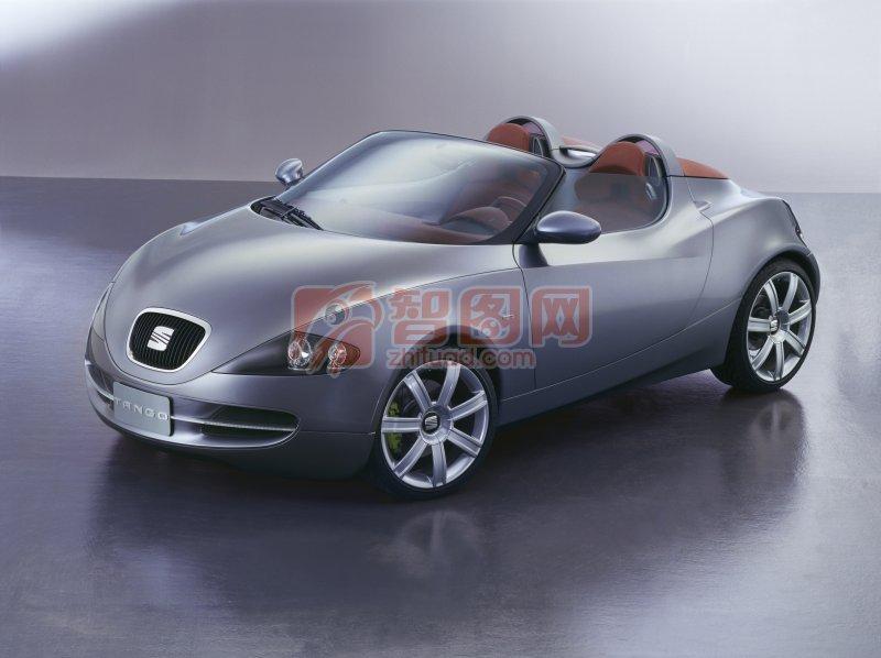 灰色車身轎車元素