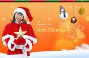 橘黄色背景圣诞设计