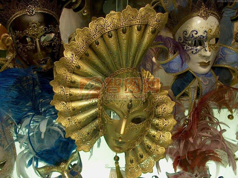 黄色面具摄影 下一张图片:彩色小丑面具
