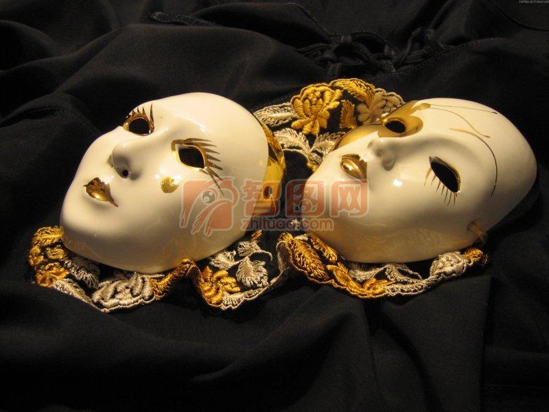 乳白色面具素材