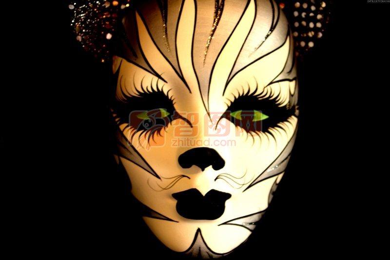 面具手绘图案花纹