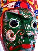 绿色怪兽面具