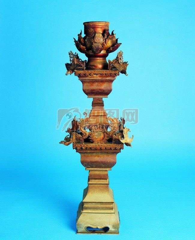 传统香炉元素