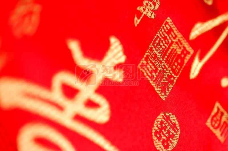 寿字刺绣元素