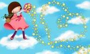 天空中的女孩