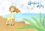 海边少女图