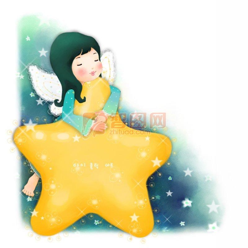 抱着星星的孩子